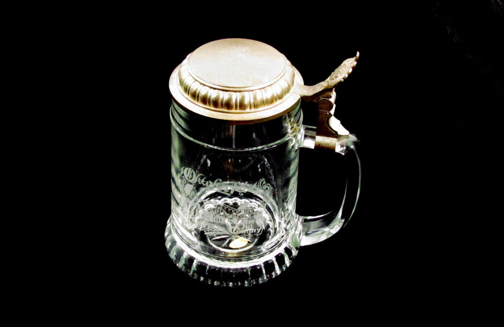 Beer Stein Ale Tankard Western Germany Vintage Glass Souvenir - Attic and Barn Treasures