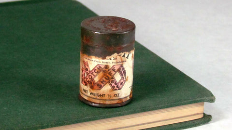 Antique Metal Snuff Tin Empty Scotch Snuff - Attic and Barn Treasures
