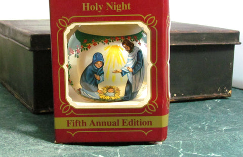 Vintage Hummelwerk Holy Night Glass Christmas Ornament NIB - Attic and Barn Treasures