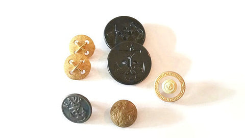 Vintage Button Group Navy and Shank Buttons - Attic and Barn Treasures