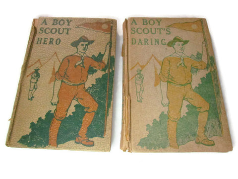 Set of Two Vintage Early Boy Scout Fiction Books by Edward Griggs - Attic and Barn Treasures