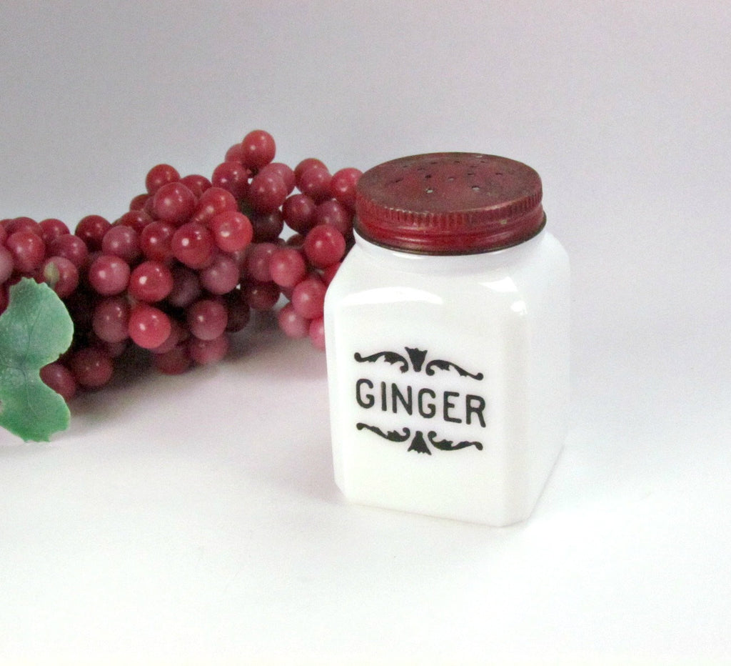 Vintage Atlas Milk Glass Ginger Spice Jar - Attic and Barn Treasures