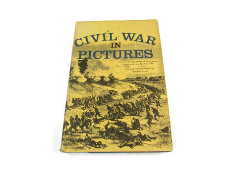 Vintage Hardback Civil War in Pictures 1955 - Attic and Barn Treasures