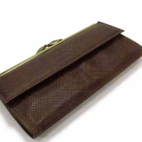 Vintage Lady Buxton Wallet Clutch Python Cowhide Leather - Attic and Barn Treasures