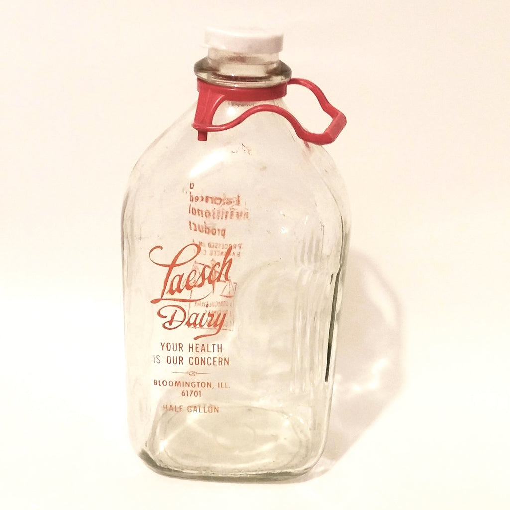 Vintage Glass Laesch Dairy Bottle Half Gallon - Attic and Barn Treasures