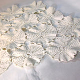 Vintage Unusual Diamond Shape Off White Doily - Attic and Barn Treasures