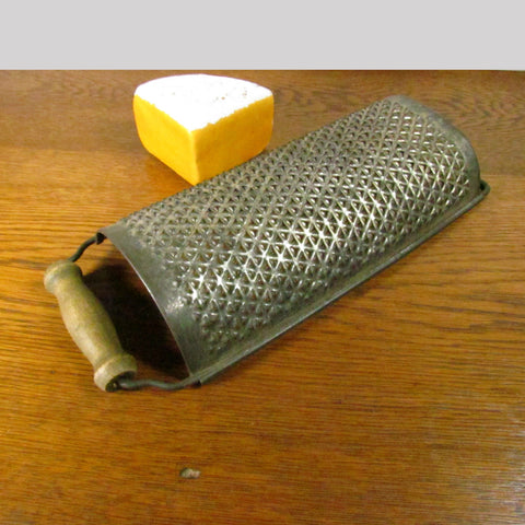 Vintage Large Metal Grater with Wood Handle - Attic and Barn Treasures