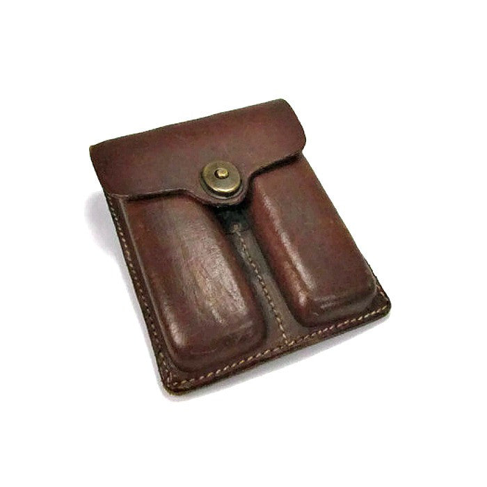Vintage Leather Magazine Pocket Pouch - Attic and Barn Treasures