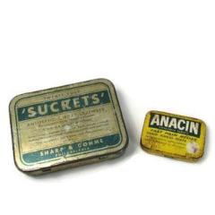 Vintage Anacin and Sucrets Medicine Tins - Attic and Barn Treasures