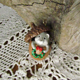 Vintage Hallmark Acorn Squirrel Miniature Ornament c.1989 - Attic and Barn Treasures
