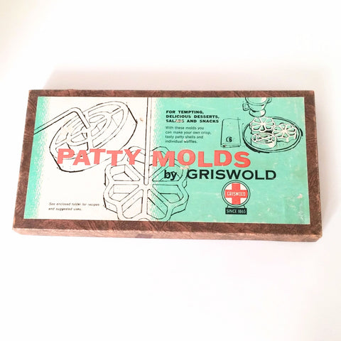 Griswold Vintage Patty Mold Set in Original Box