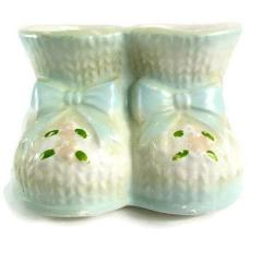 Napcoware Blue Baby Booties Vintage Planter - Attic and Barn Treasures