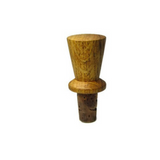 Vintage Oak and Cork Hand Turned Bottle Stopper - Attic and Barn Treasures