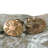 Elegant Vintage Oval Etched Cufflinks  Parks Bros and Rogers - Attic and Barn Treasures