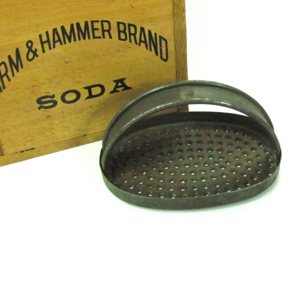 Vintage Rustic Hand Held Oval Grater - Attic and Barn Treasures