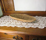Vintage Shallow Oval Handmade Basket with Wire Frame - Attic and Barn Treasures