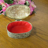 Vintage Oval Metal Ring Box - Attic and Barn Treasures