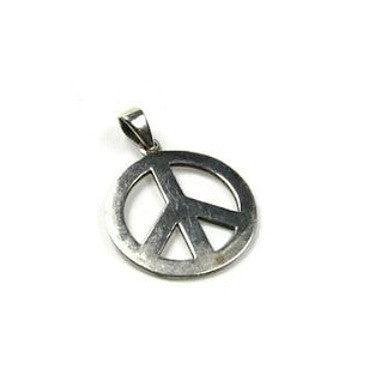 Vintage Silver Peace Sign Necklace Pendant Charm - Attic and Barn Treasures