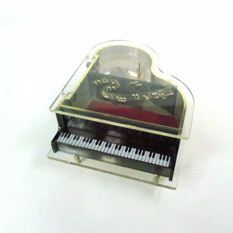 Vintage Grand Piano Music Box Plays You Light Up My Life - Attic and Barn Treasures