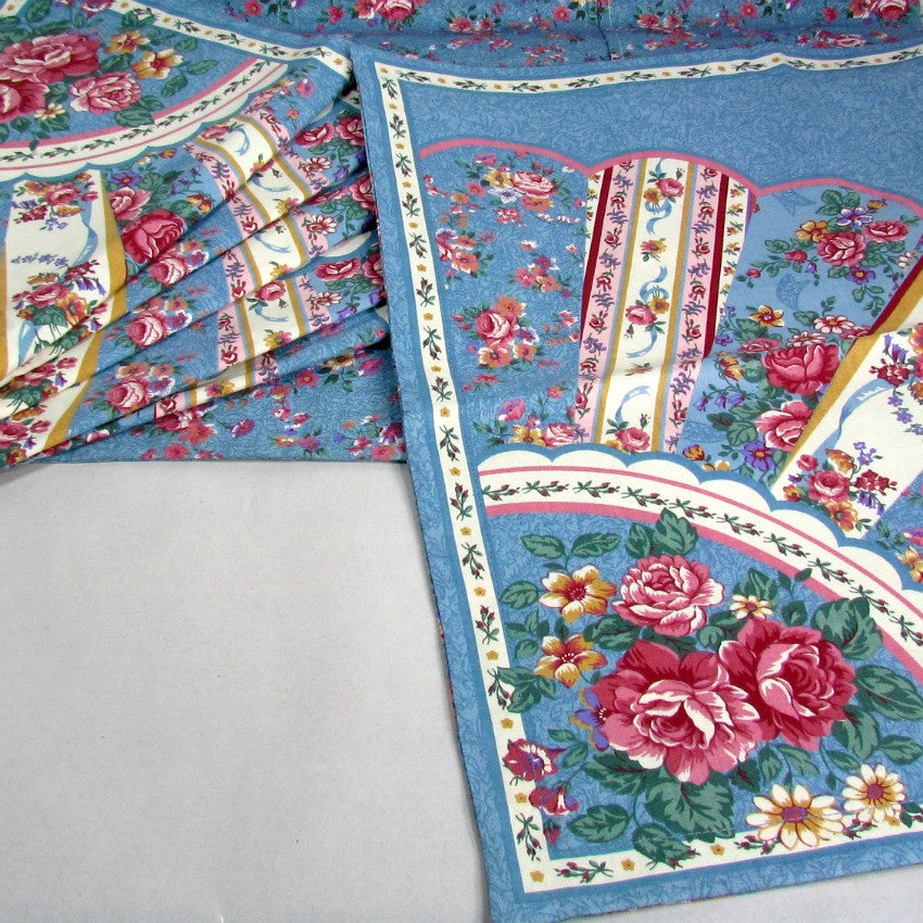 Country Cottage Cabbage Rose Pillow Covers Handmade Vintage / Set of 7 - Attic and Barn Treasures