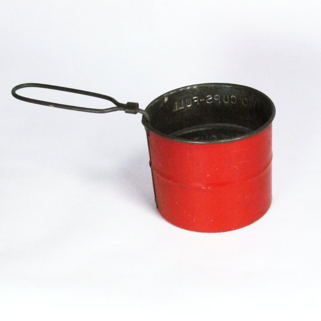 Vintage Red 2 Cup Sifter Shake and Sift