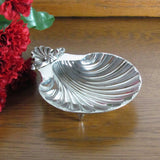 Vintage Silverplate Clam Shell Dish Sheffield England Repro