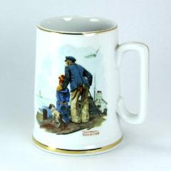 Norman Rockwell Looking Out To Sea 1985 Vintage Mug