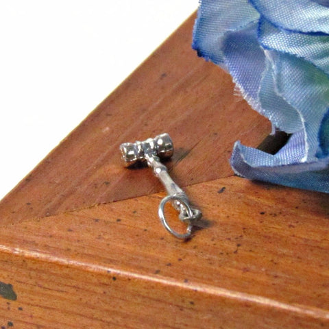 Sterling Silver Vintage Gavel Pendant Charm - Attic and Barn Treasures