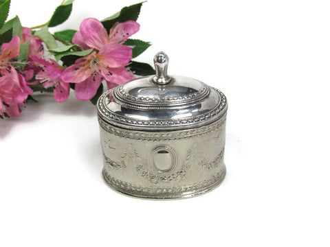 Vintage Silver Plate Ring Box with Hinged Lid - Attic and Barn Treasures