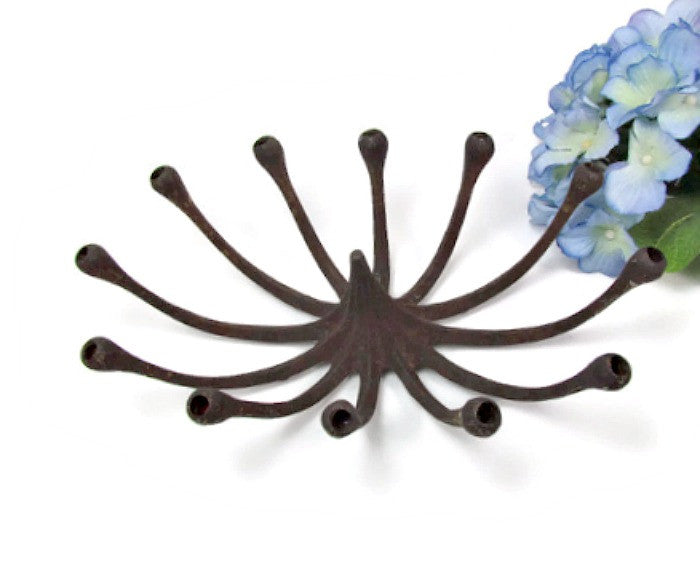 Vintage Cast Iron Candle Holder Spider for Slim Candles - Attic and Barn Treasures