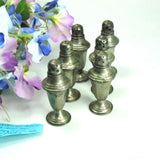 Antique Sterling Silver Lighthouse Style Salt Shakers Set of 6 - Attic and Barn Treasures