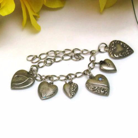 Sterling Silver Vintage Sweetheart Hearts Collection