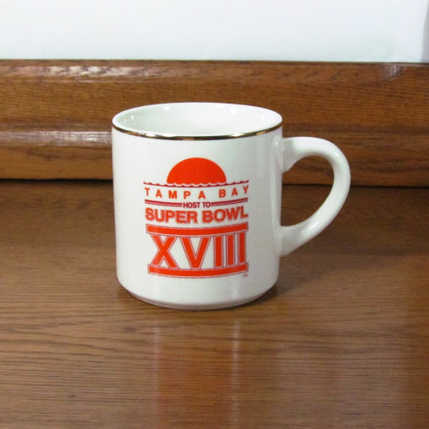 Vintage Super Bowl XVIII Coffee Cup Mug Collectible