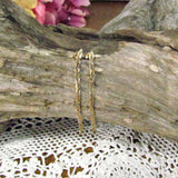 Vintage 14K Tri Color Gold Braided Earrings - Attic and Barn Treasures