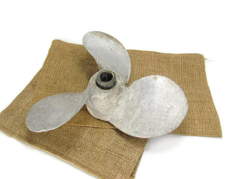 Vintage Aluminum Propeller Nautical Decor Wall Display - Attic and Barn Treasures