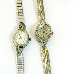 Vintage Watch Pair Helbros and La Marque