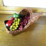 Woven Wicker Vintage Cornucopia Horn of Plenty Basket - Attic and Barn Treasures