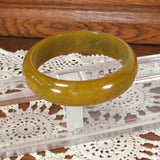 Vintage Wide Olive Green Marbled Bakelite Bangle Bracelet - Attic and Barn Treasures
