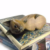 Vintage Carved Wood Kitty Cat Shelf Sitter - Attic and Barn Treasures