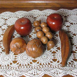 Vintage Assorted Carved Wood Fruit 7 Pieces - Attic and Barn Treasures