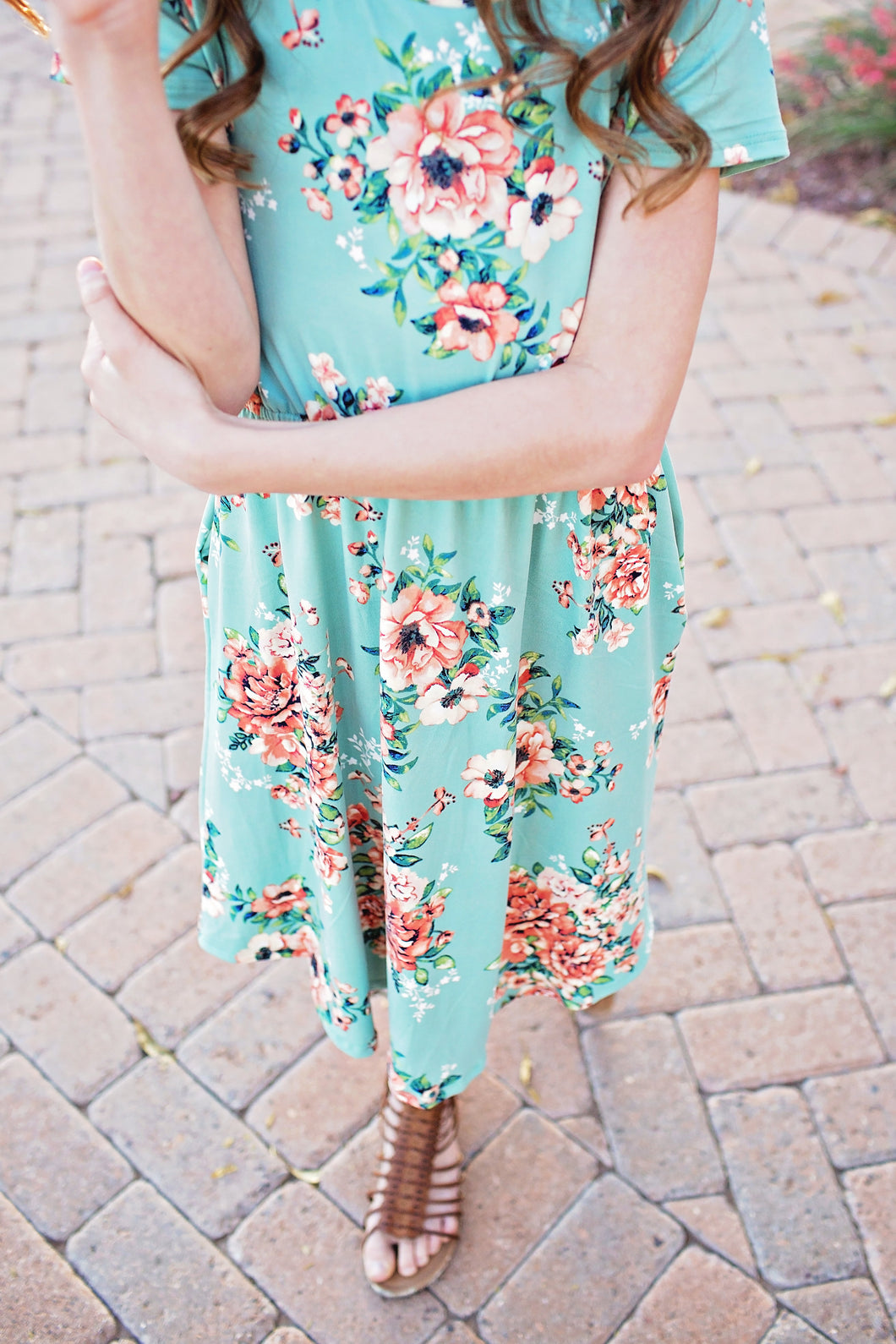 Felicity Dress in Mint- Short Sleeve