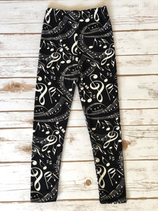 Leggings- Music Notes