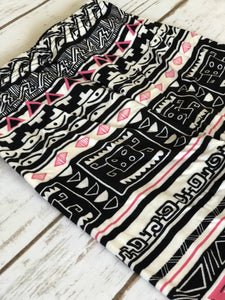 Leggings- Pink Aztec