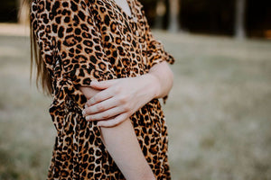 tween girls modest leopard print dress