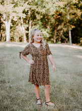 Load image into Gallery viewer, tween girls modest leopard print dress