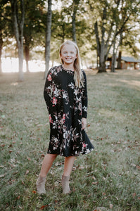 Chloe Dress in black for tweens