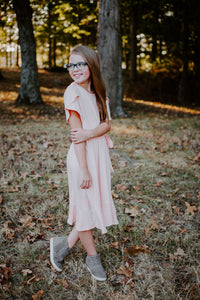 Tulip Dress in Blush for tweens