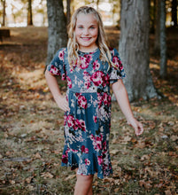 Load image into Gallery viewer, Charlotte Dress in Floral for tweens
