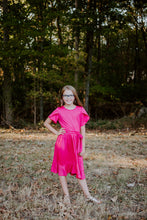Load image into Gallery viewer, Tulip Dress in Fuchsia for tweens
