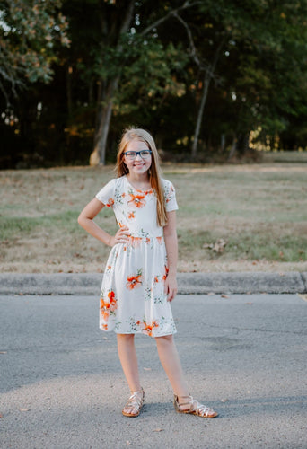 Darby Dress in peach